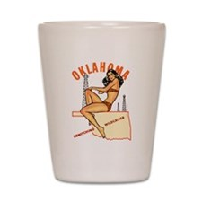 Oklahoma Pinup Shot Glass