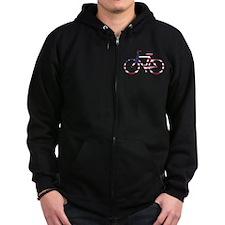 US Flag Bike Zip Hoodie