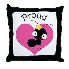 Proud Aunt Ant Throw Pillow