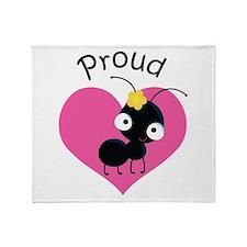 Proud Aunt Ant Throw Blanket