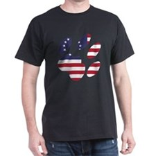 Betsy Ross Flag Cat Paw T-Shirt