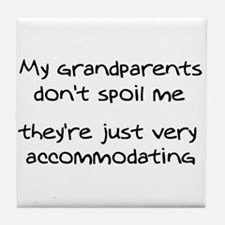 Accommodating Grandparents Tile Coaster