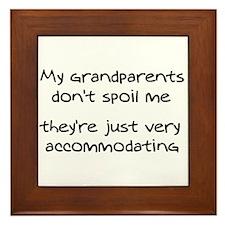 Accommodating Grandparents Framed Tile