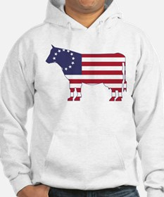 Betsy Ross Flag Cow Icon Hoodie