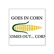 Goes in corn Sticker