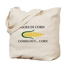 Goes in corn Tote Bag
