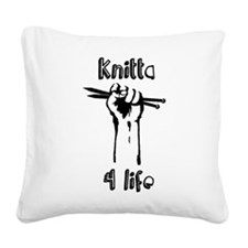 Knitta 4 Life Square Canvas Pillow