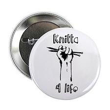 "Knitta 4 Life 2.25"" Button"