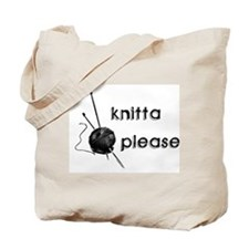 Knitta Please Tote Bag