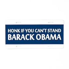 Cute Honk if anti obama Aluminum License Plate