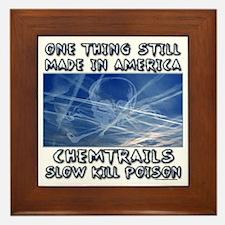 Chemtrails - Still Made in America Framed Tile