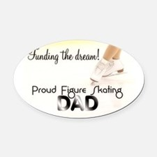 Proud Dad! Oval Car Magnet