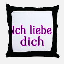 Ich liebe dich-I love you Throw Pillow