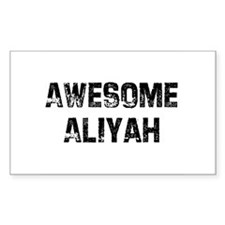 Awesome Aliyah Rectangle Decal