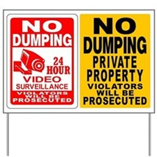 (2) NO DUMPING SIGNS Yard Sign