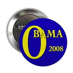 Blue O: Obama 2008 Button