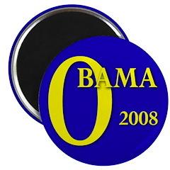 """Blue O: Obama 2008 2.25"""" Magnet (100 pack)"""