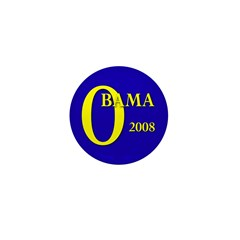 Blue O: Obama 2008 Mini Button (10 pack)