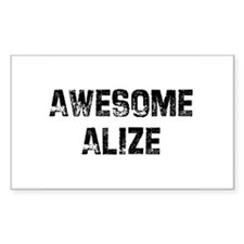 Awesome Alize Rectangle Decal