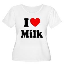 I Heart Milk Plus Size T-Shirt
