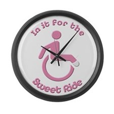 In it for the Sweet Ride Large Wall Clock