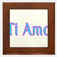 Ti Amo- I love you Framed Tile