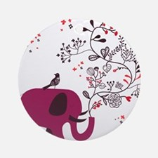 Love Elephant Ornament (Round)