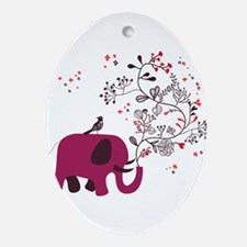 Love Elephant Ornament (Oval)
