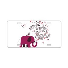 Love Elephant Aluminum License Plate