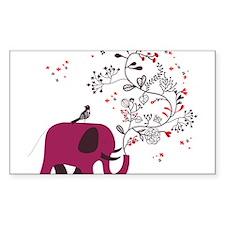 Love Elephant Decal