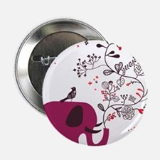 """Love Elephant 2.25"""" Button (10 pack)"""