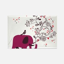 Love Elephant Rectangle Magnet