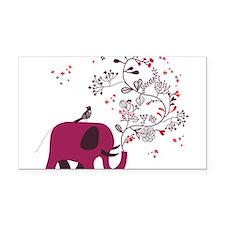 Love Elephant Rectangle Car Magnet