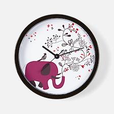 Love Elephant Wall Clock