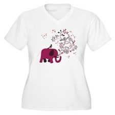 Love Elephant Plus Size T-Shirt