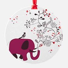 Love Elephant Ornament