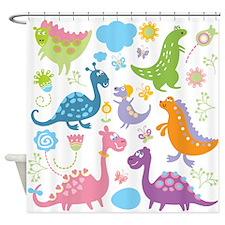 Cute Dinosaurs Shower Curtain