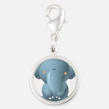 Blue Baby Elephant Charms
