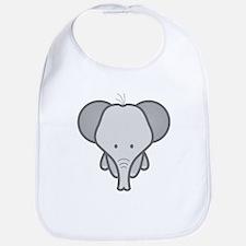 Gray Baby Elephant Bib