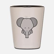 Gray Baby Elephant Shot Glass