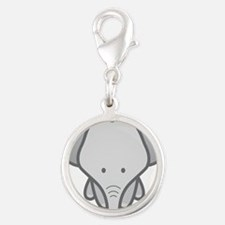 Gray Baby Elephant Charms