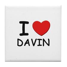 I love Davin Tile Coaster