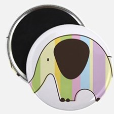 "Striped Elephant 2.25"" Magnet (10 pack)"