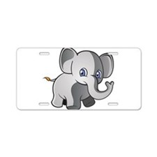 Baby Elephant 2 Aluminum License Plate