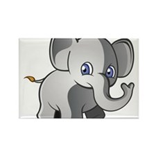 Baby Elephant 2 Rectangle Magnet (100 pack)