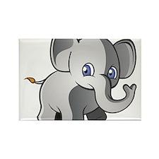 Baby Elephant 2 Rectangle Magnet