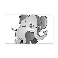 Baby Elephant 2 Rectangle Car Magnet