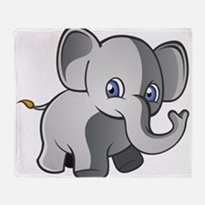 Baby Elephant 2 Throw Blanket