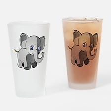 Baby Elephant 2 Drinking Glass