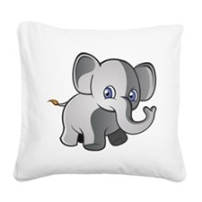 Baby Elephant 2 Square Canvas Pillow